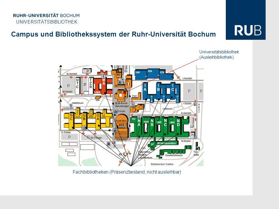 Campus und Bibliothekssystem der Ruhr-Universität Bochum