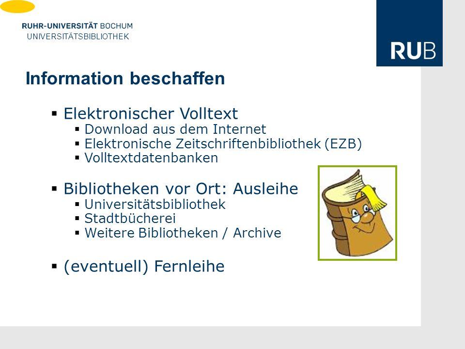 Information beschaffen