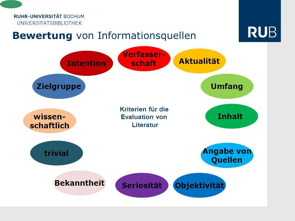 Bewertung von Informationsquellen