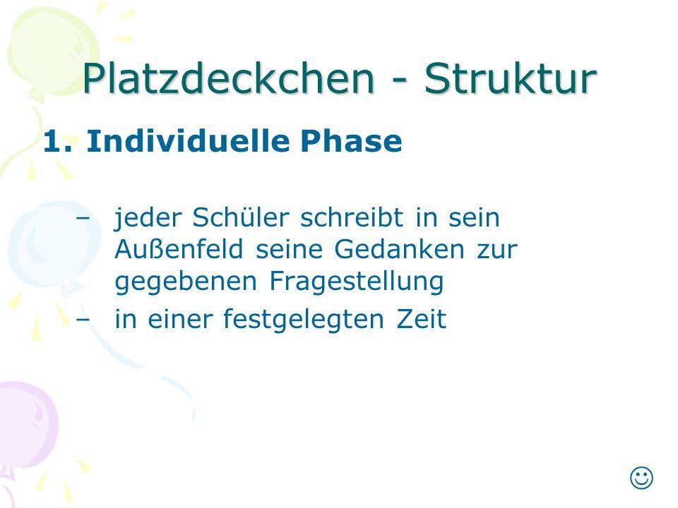 Platzdeckchen - Struktur