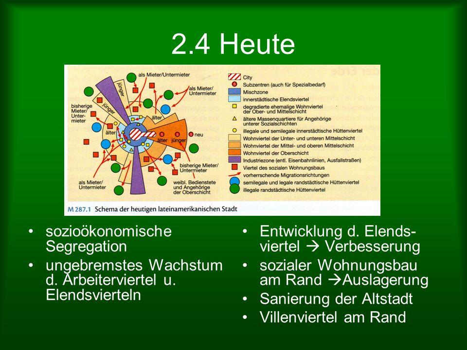 2.4 Heute sozioökonomische Segregation
