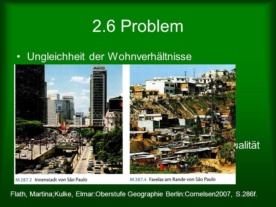 2.6 Problem Ungleichheit der Wohnverhältnisse