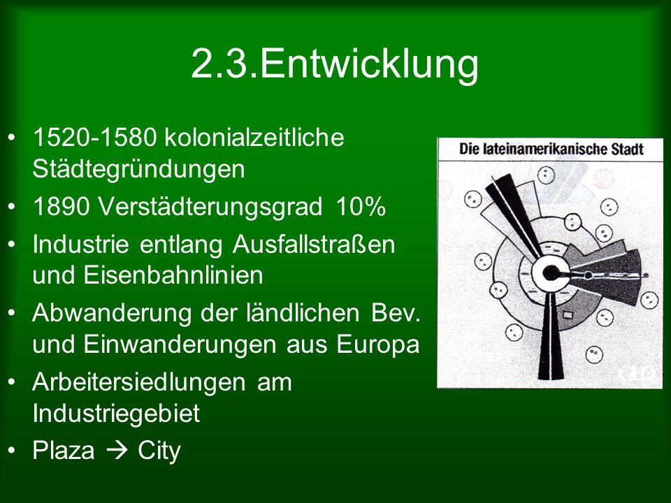 2.3.Entwicklung 1520-1580 kolonialzeitliche Städtegründungen