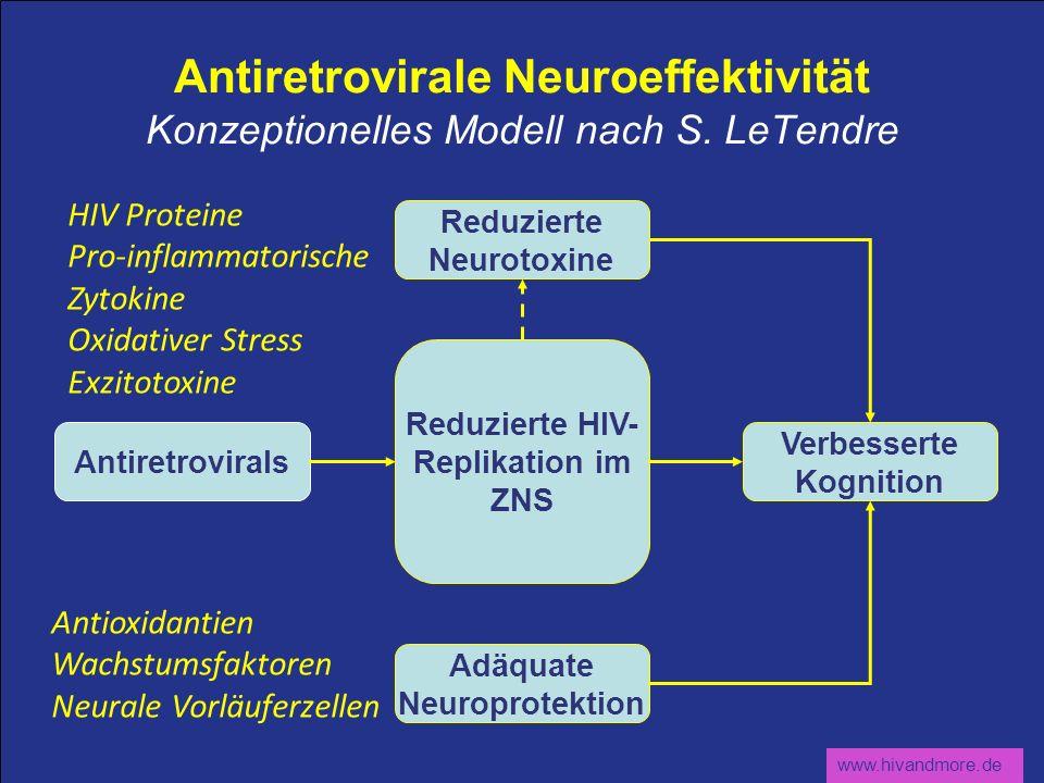 Antiretrovirale Neuroeffektivität Konzeptionelles Modell nach S