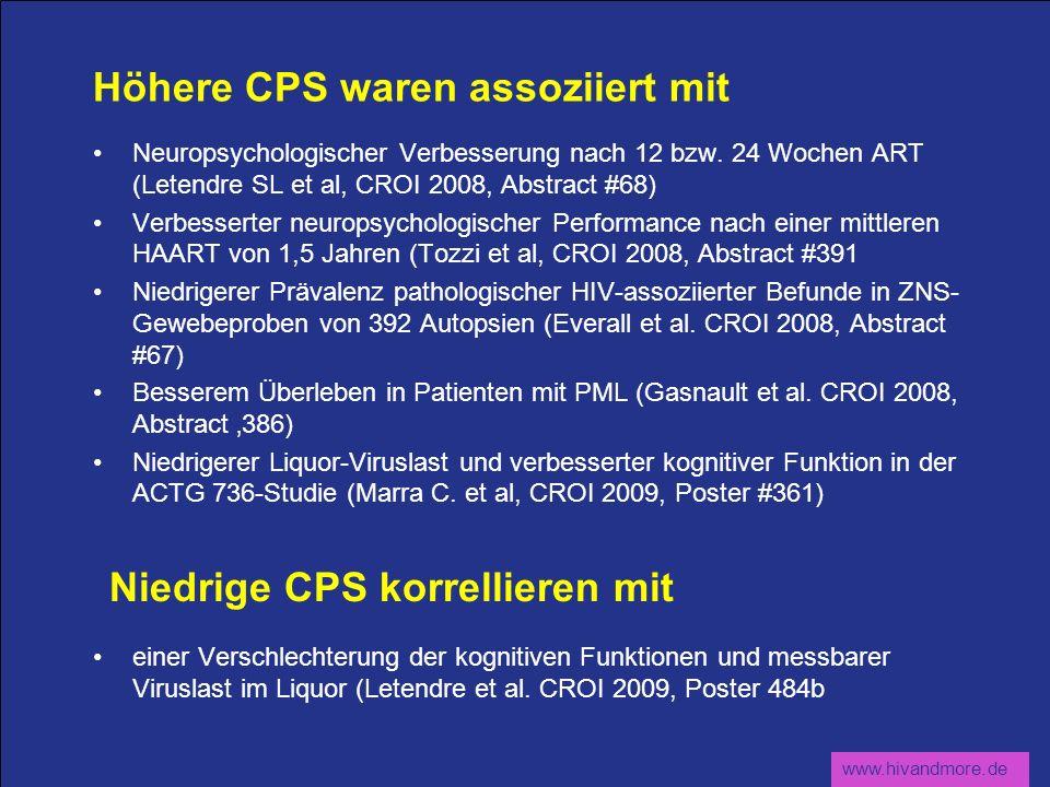 Höhere CPS waren assoziiert mit