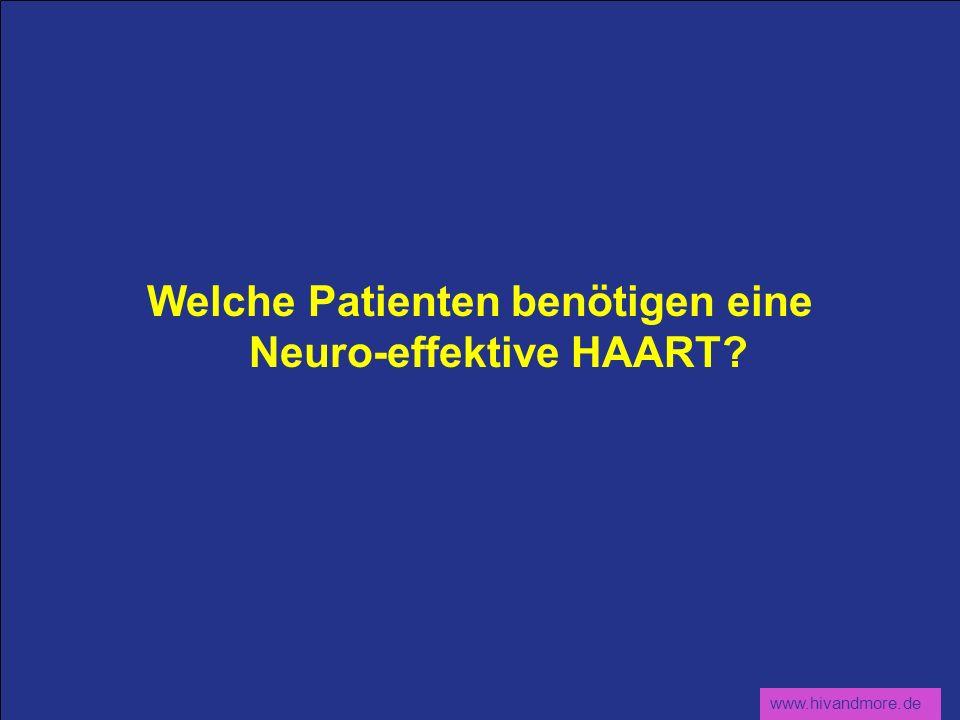 Welche Patienten benötigen eine Neuro-effektive HAART