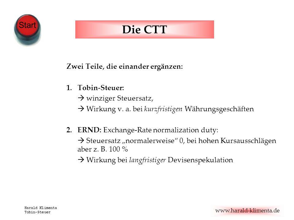 Die CTT Zwei Teile, die einander ergänzen: Tobin-Steuer: