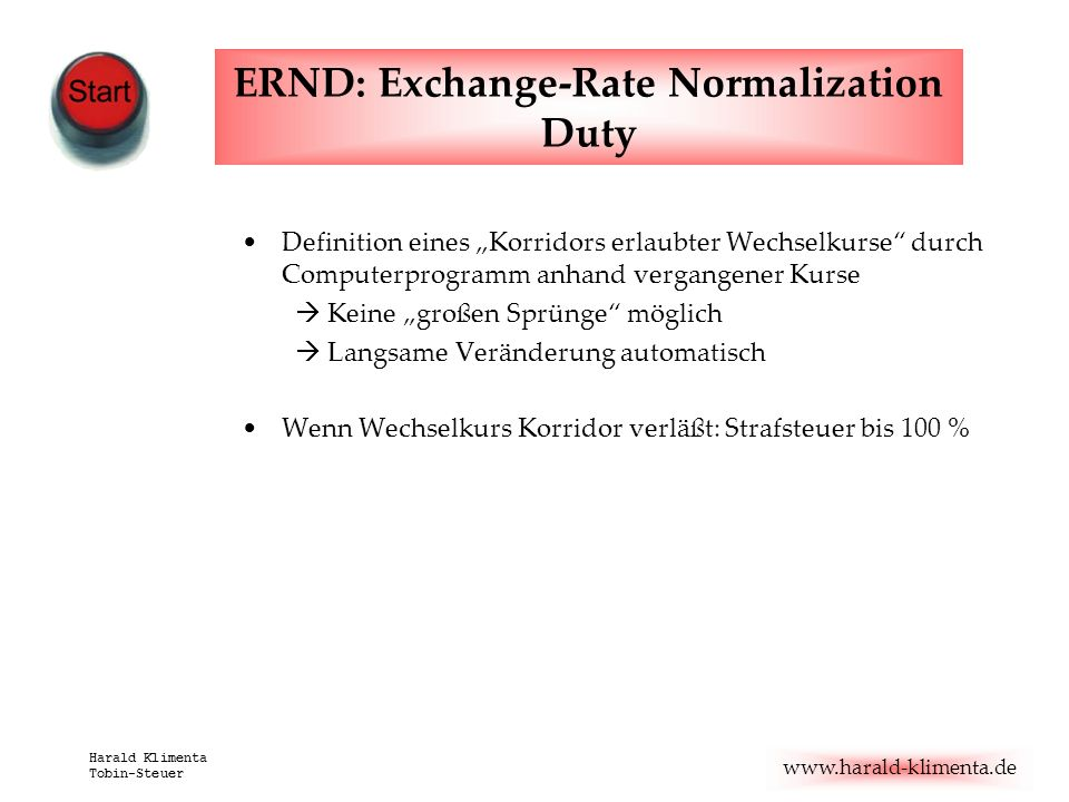 ERND: Exchange-Rate Normalization Duty