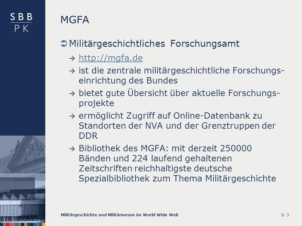 MGFA Militärgeschichtliches Forschungsamt http://mgfa.de