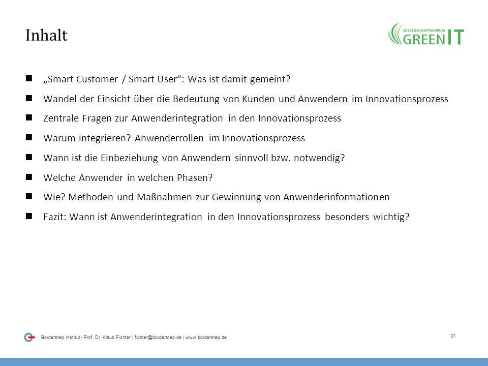 """Inhalt """"Smart Customer / Smart User : Was ist damit gemeint"""