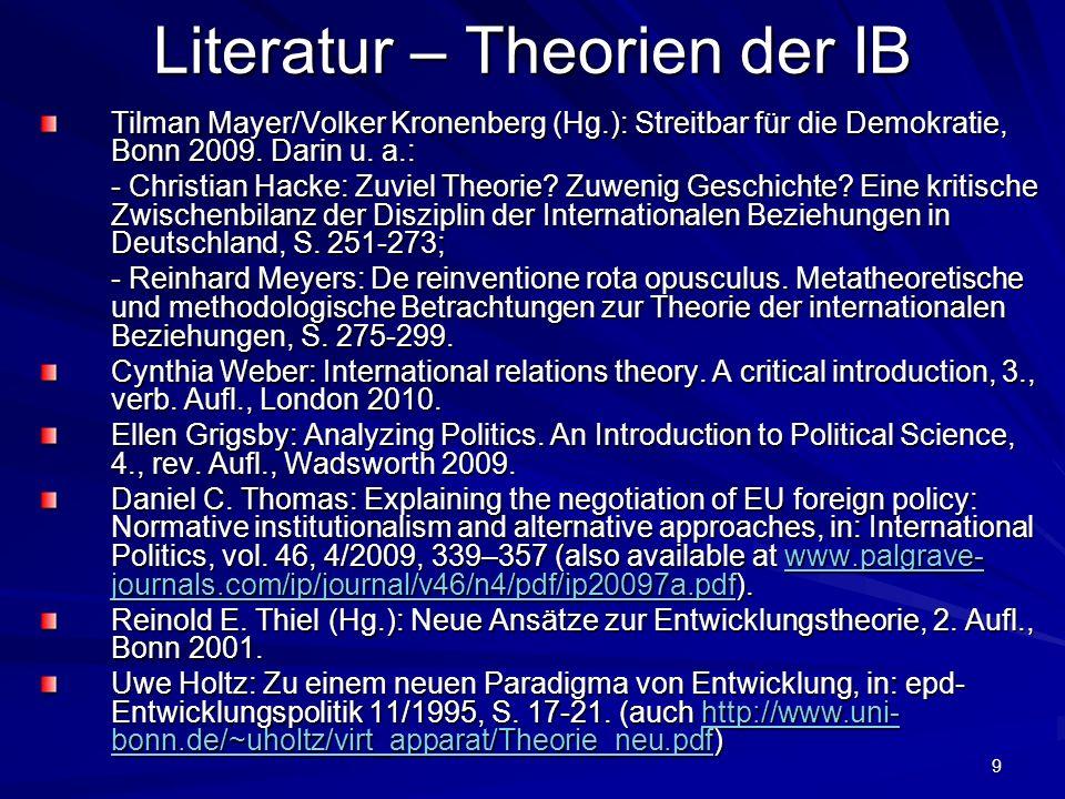 Literatur – Theorien der IB