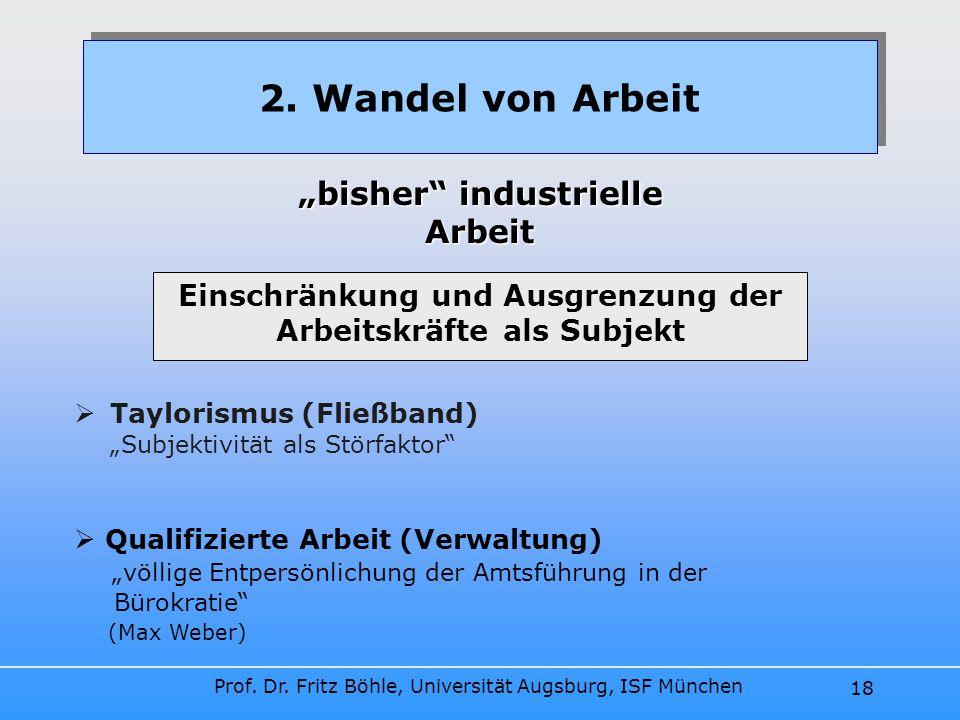 """2. Wandel von Arbeit """"bisher industrielle Arbeit"""