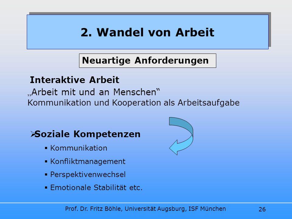 2. Wandel von Arbeit Neuartige Anforderungen Interaktive Arbeit