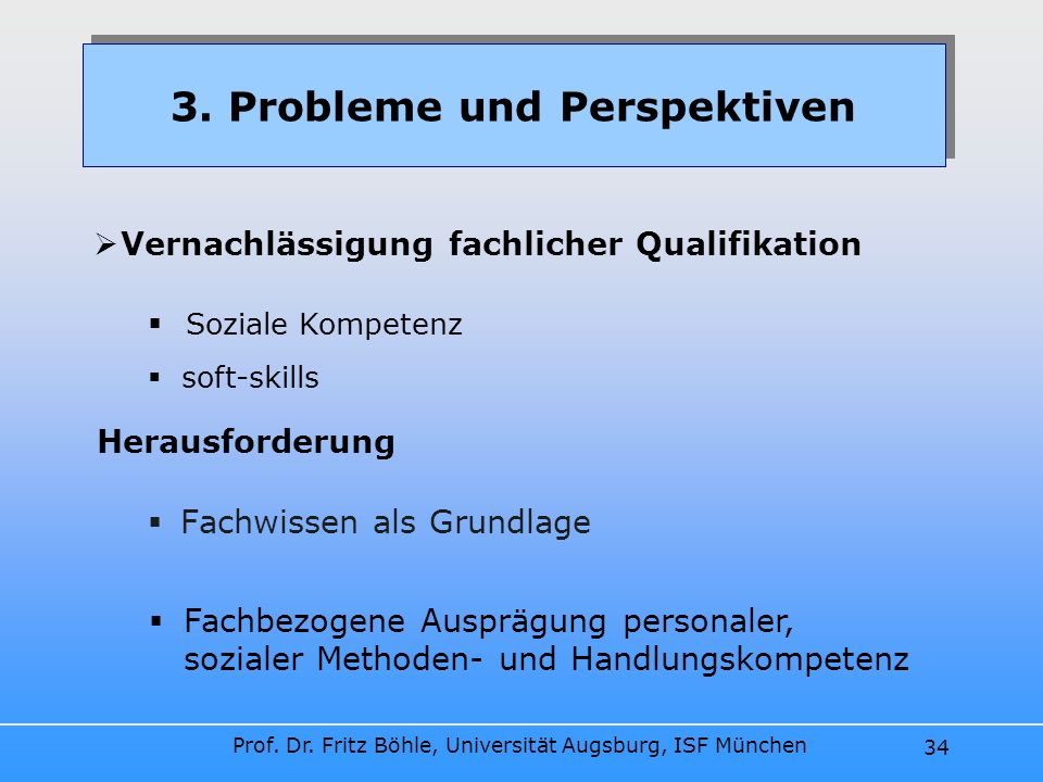 3. Probleme und Perspektiven