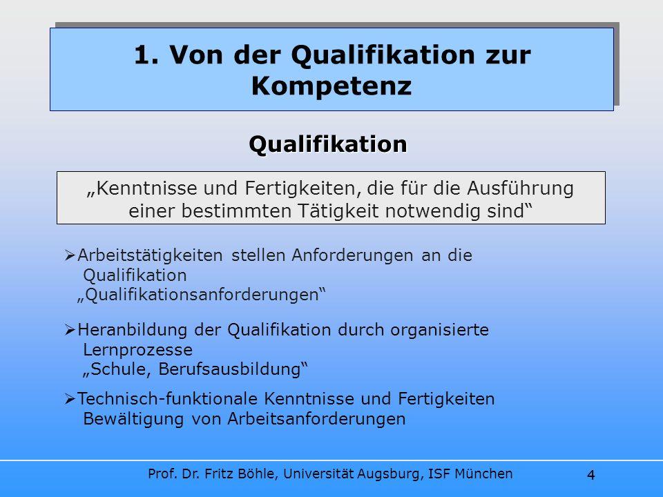 1. Von der Qualifikation zur Kompetenz