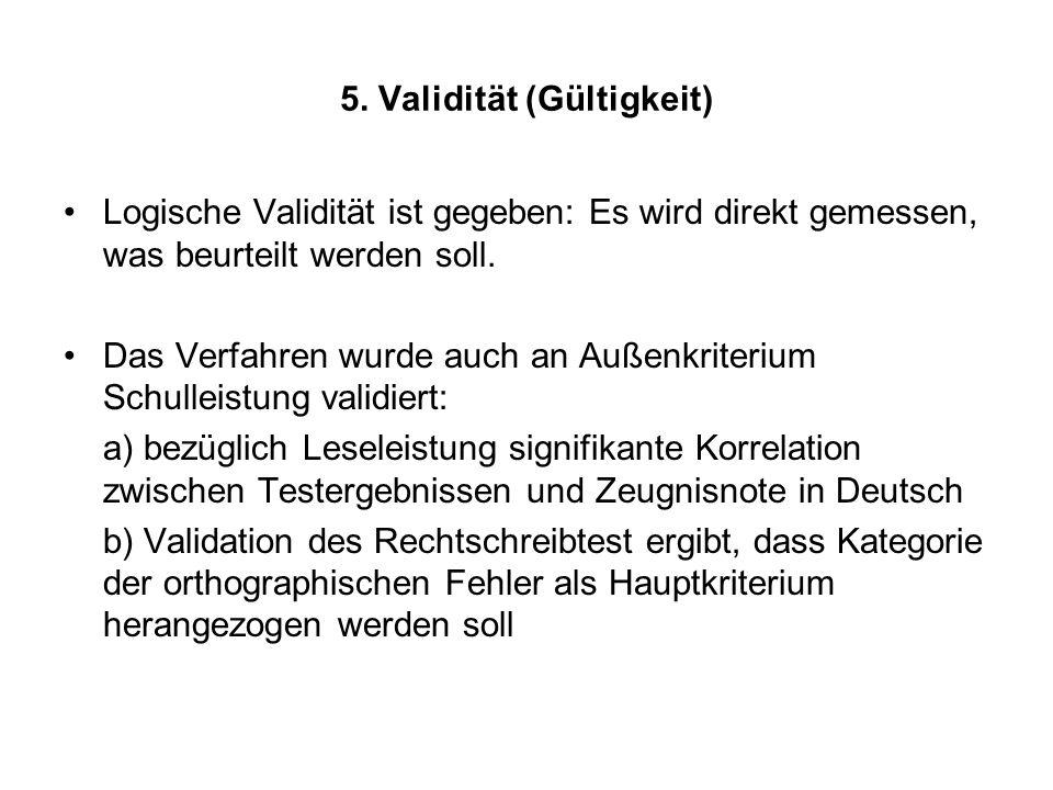 5. Validität (Gültigkeit)