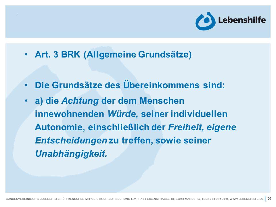 Art. 3 BRK (Allgemeine Grundsätze)