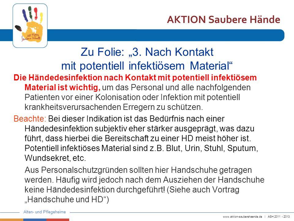 "Zu Folie: ""3. Nach Kontakt mit potentiell infektiösem Material"