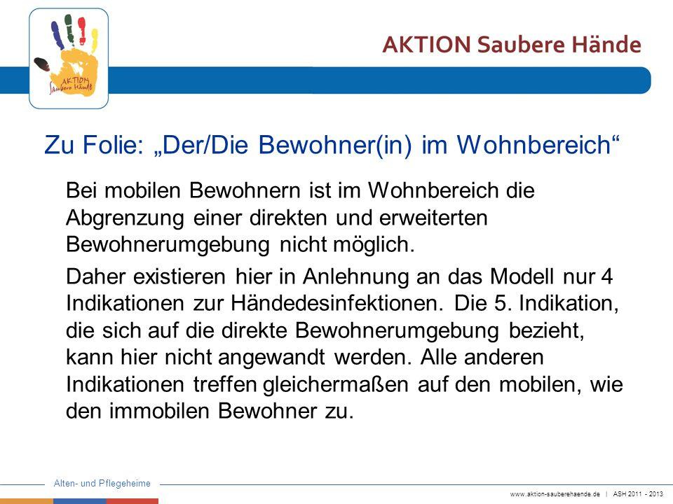 """Zu Folie: """"Der/Die Bewohner(in) im Wohnbereich"""