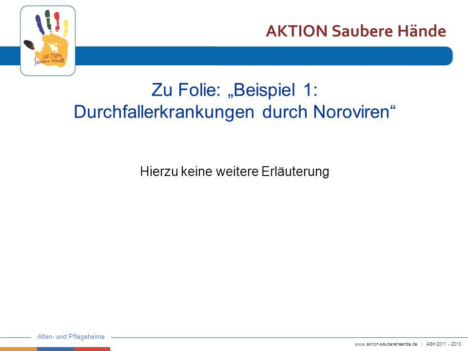 """Zu Folie: """"Beispiel 1: Durchfallerkrankungen durch Noroviren"""