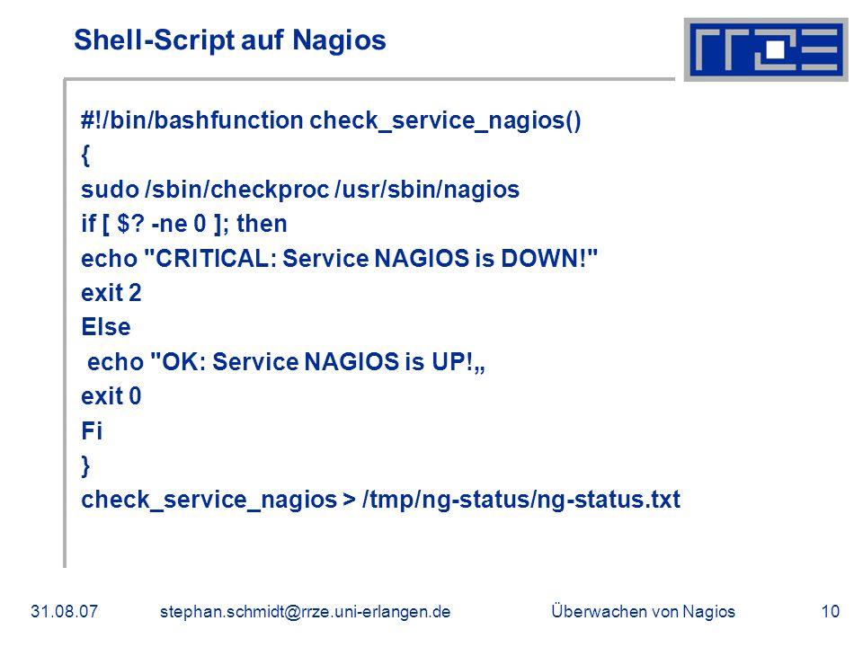 Shell-Script auf Nagios