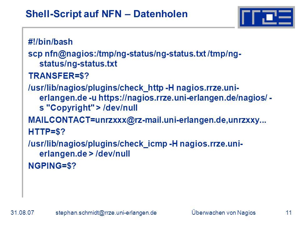 Shell-Script auf NFN – Datenholen