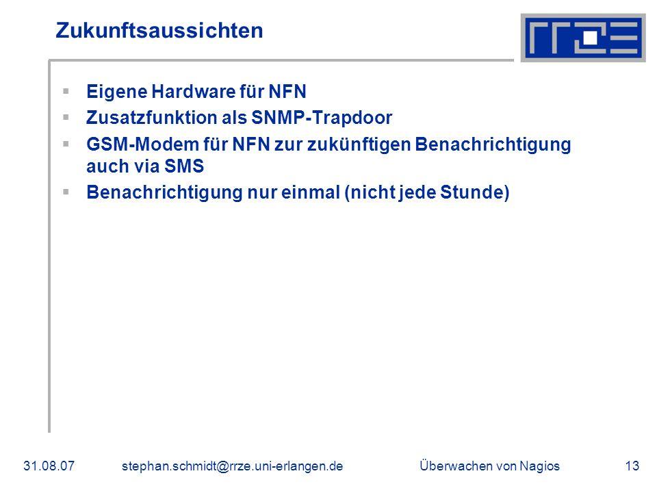 Zukunftsaussichten Eigene Hardware für NFN