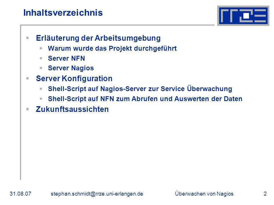 Inhaltsverzeichnis Erläuterung der Arbeitsumgebung