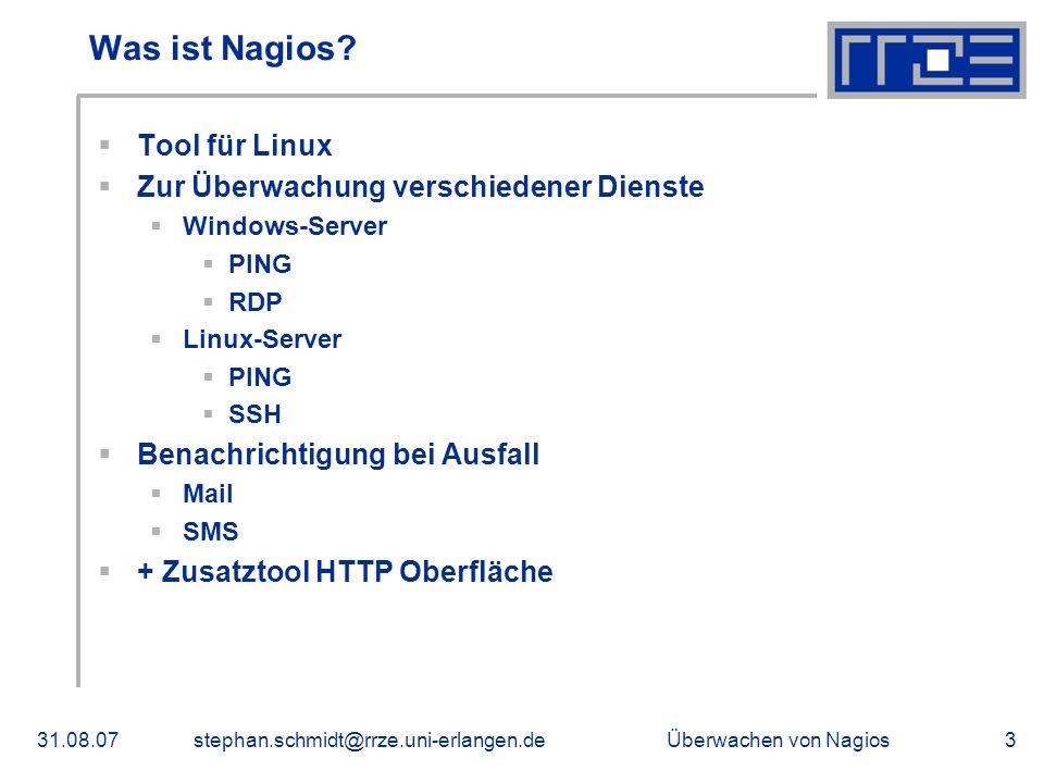 Was ist Nagios Tool für Linux Zur Überwachung verschiedener Dienste