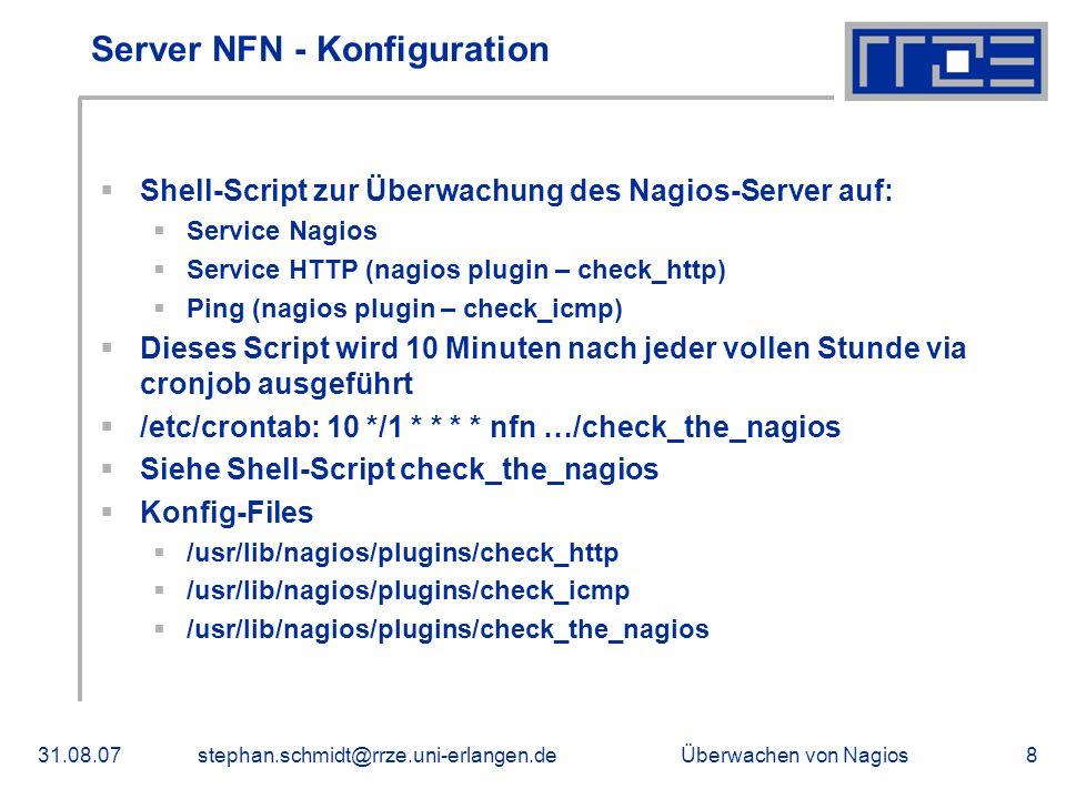 Server NFN - Konfiguration