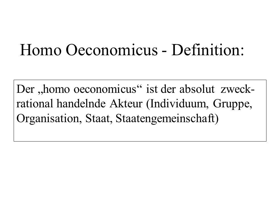 Homo Oeconomicus - Definition: