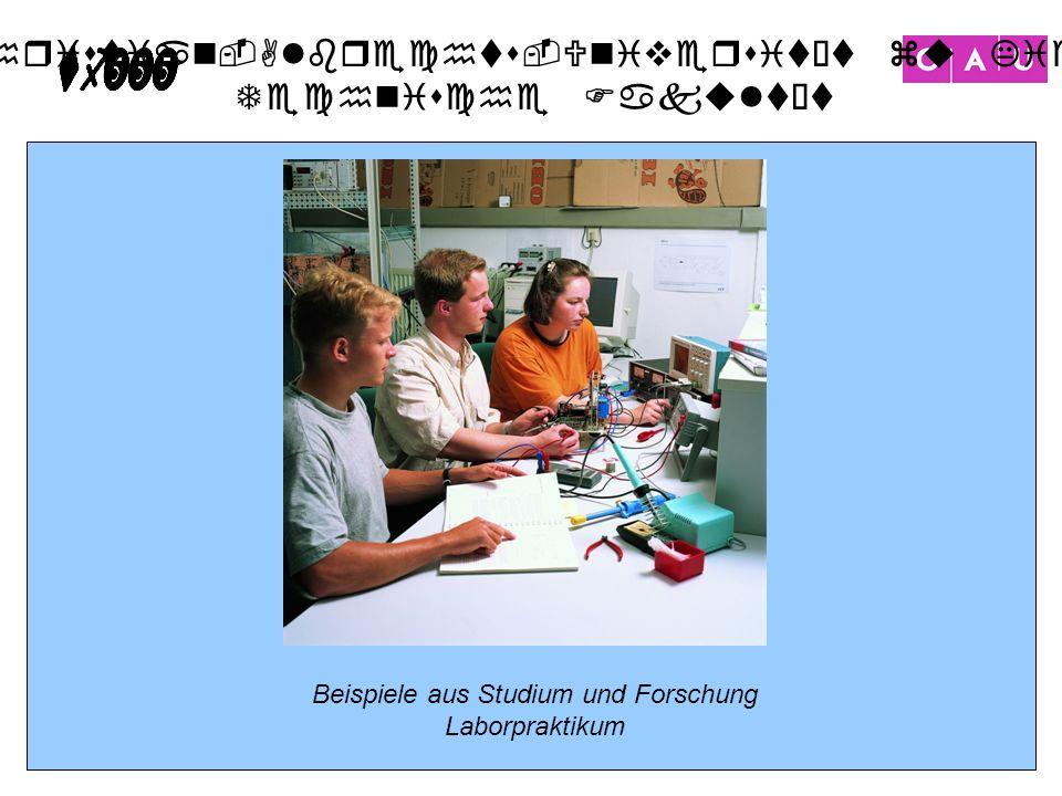Beispiele aus Studium und Forschung