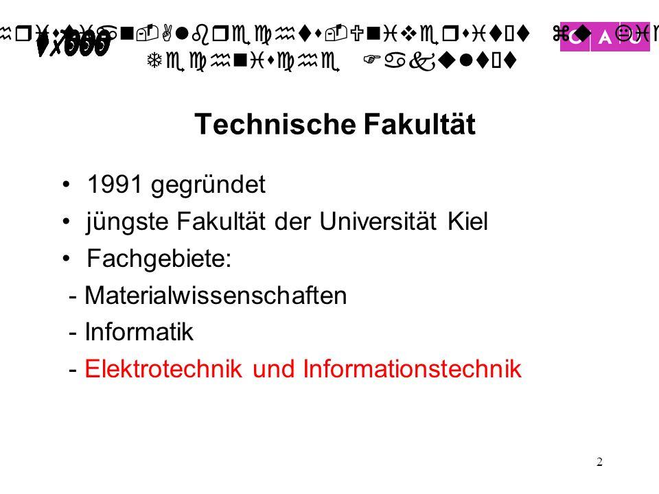 Technische Fakultät 1991 gegründet