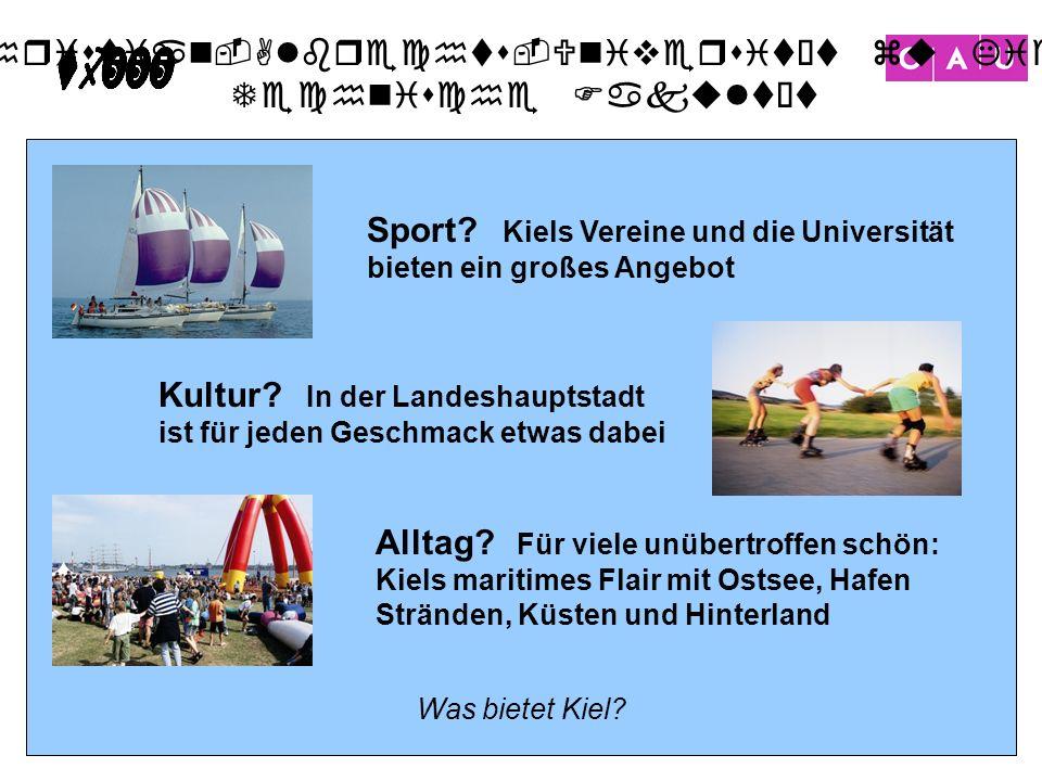Sport Kiels Vereine und die Universität