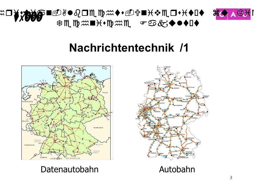 Nachrichtentechnik /1 Datenautobahn Autobahn