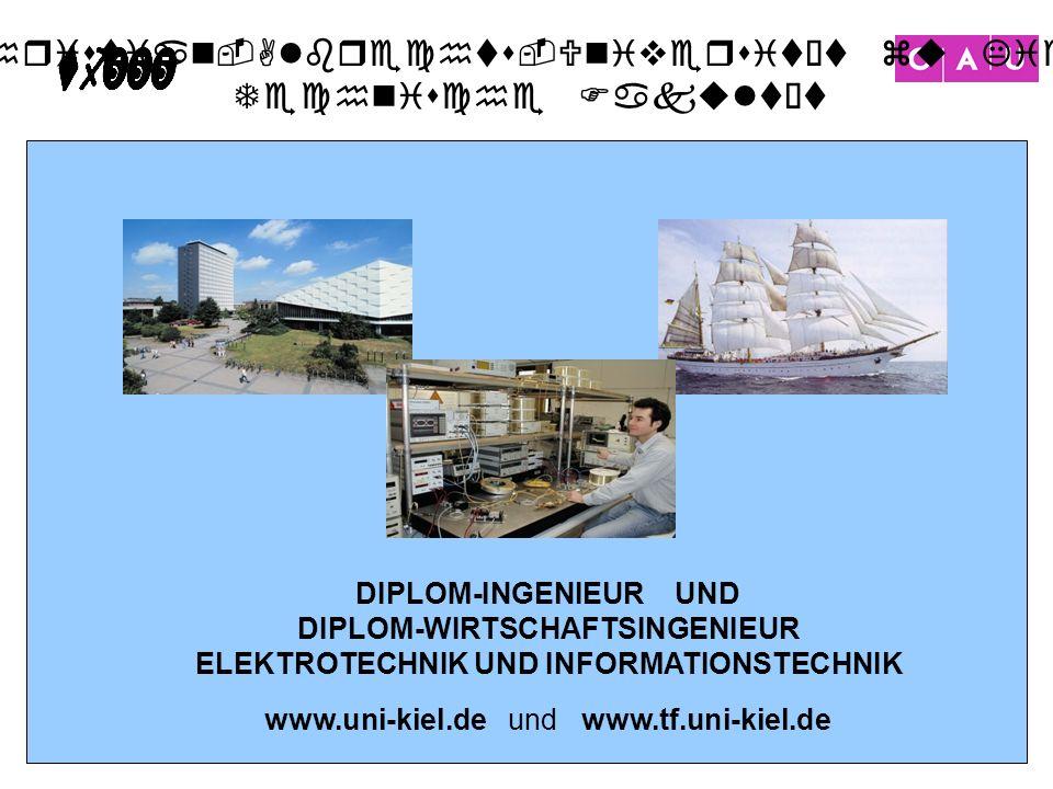 DIPLOM-WIRTSCHAFTSINGENIEUR ELEKTROTECHNIK UND INFORMATIONSTECHNIK