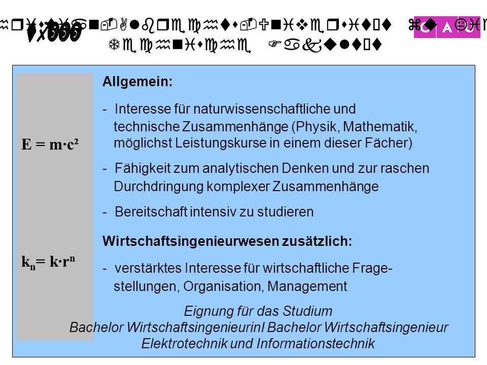 E = m·c² kn= k·rn Allgemein: