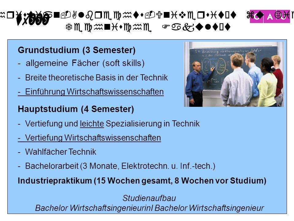 Bachelor WirtschaftsingenieurinI Bachelor Wirtschaftsingenieur