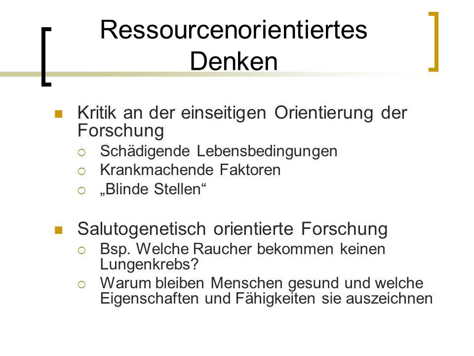 Ressourcenorientiertes Denken