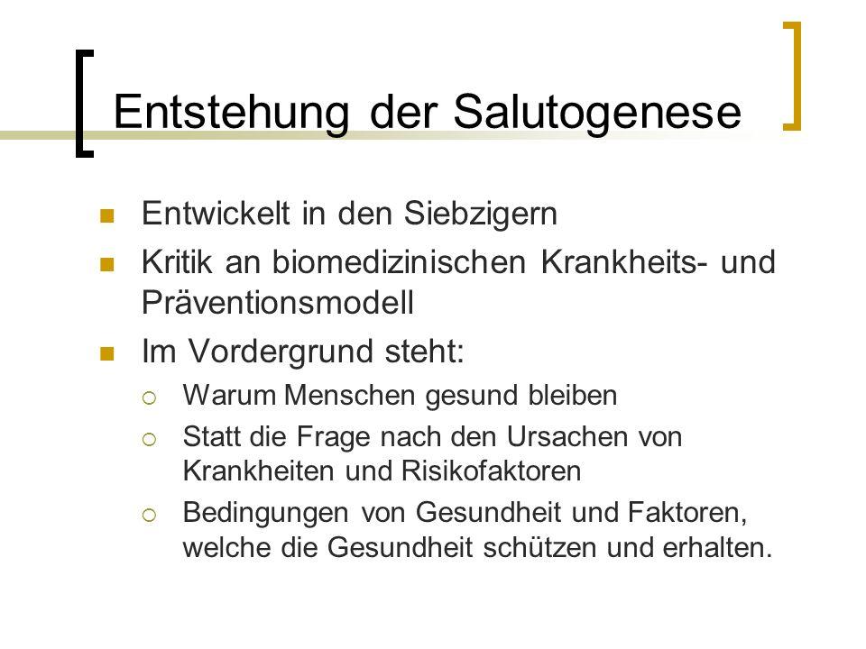 Entstehung der Salutogenese