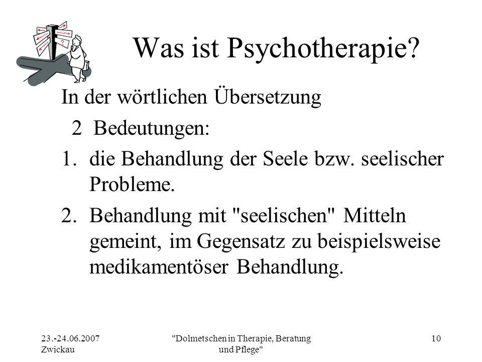 Was ist Psychotherapie