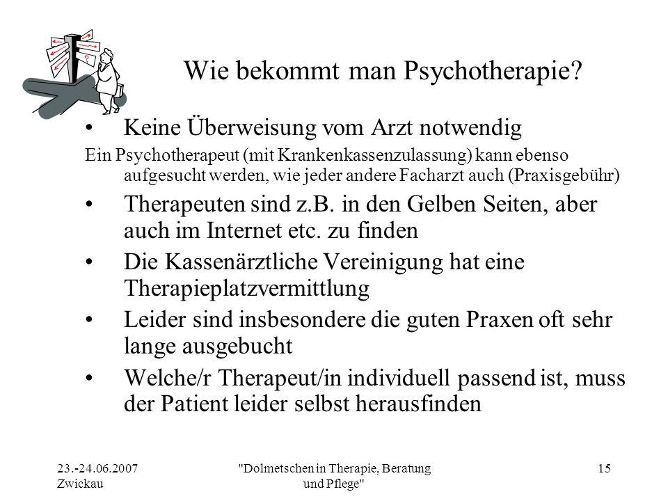 Wie bekommt man Psychotherapie