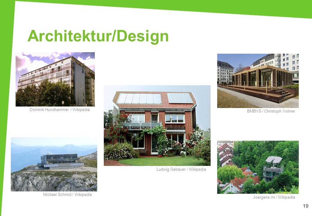 Architektur/Design Dominik Hundhammer / Wikipedia. BMBVS / Christoph Volmer.