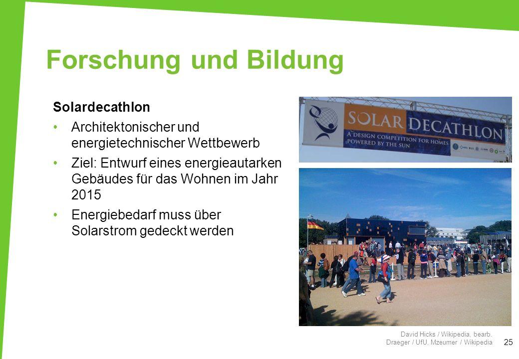 Forschung und Bildung Solardecathlon