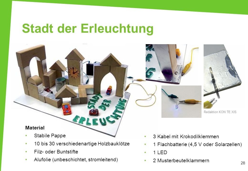 Stadt der Erleuchtung Material Stabile Pappe