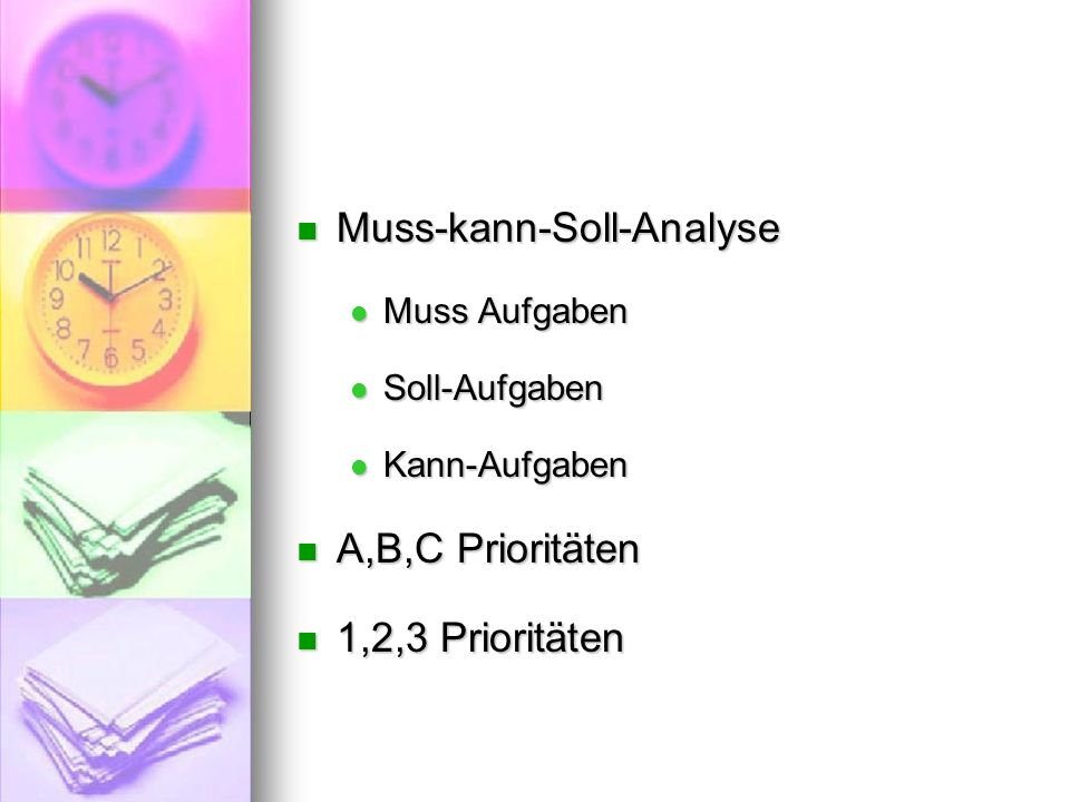Muss-kann-Soll-Analyse