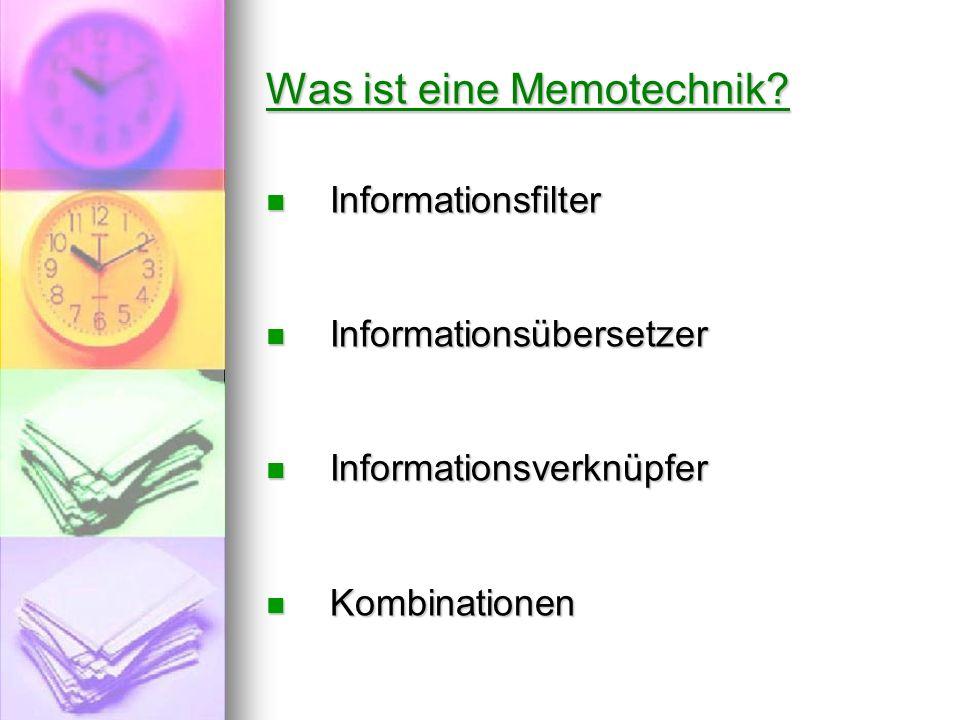 Was ist eine Memotechnik