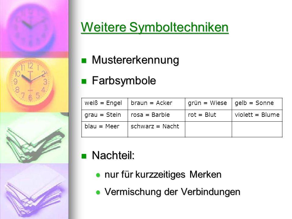 Weitere Symboltechniken