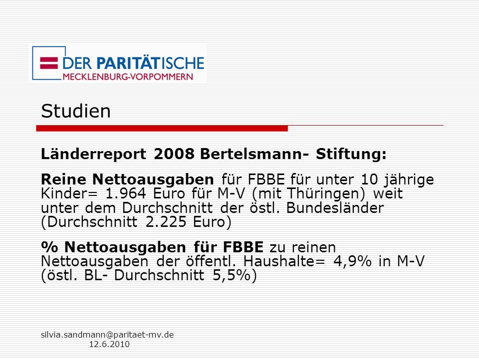 Studien Länderreport 2008 Bertelsmann- Stiftung: