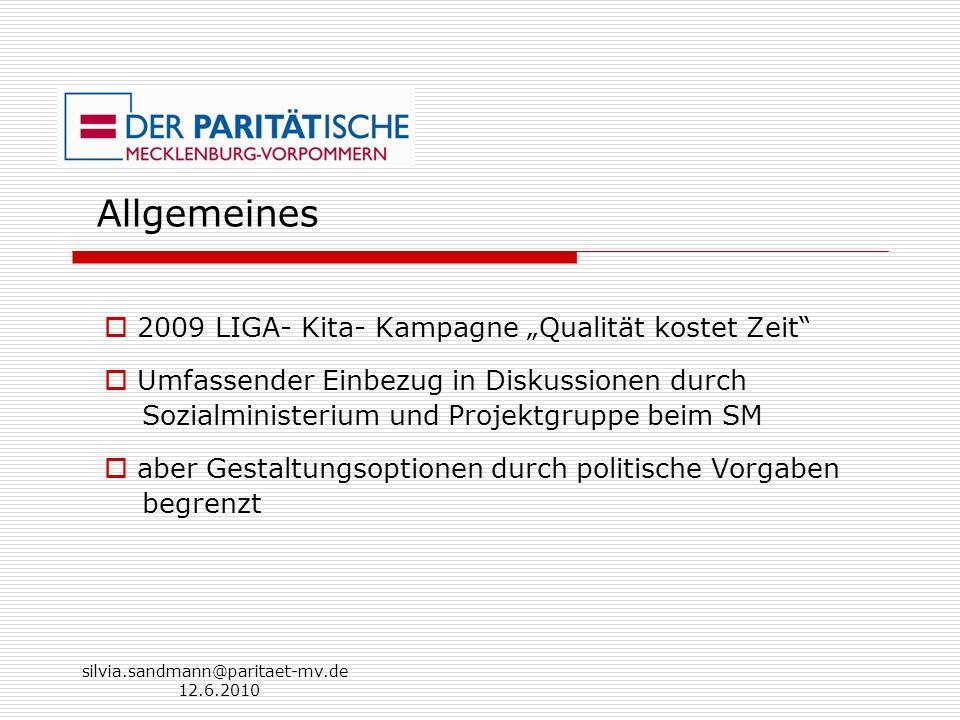 """Allgemeines 2009 LIGA- Kita- Kampagne """"Qualität kostet Zeit"""